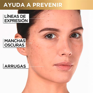 previene lineas de expresión, manchas y arrugas