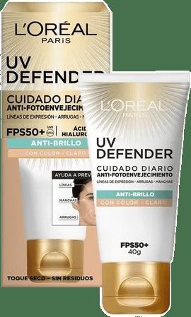 UV Defender anti brillo tono claro